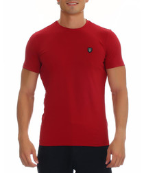 Dante dark red cotton blend T-shirt