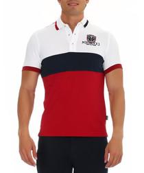 Calvin red cotton blend  polo shirt