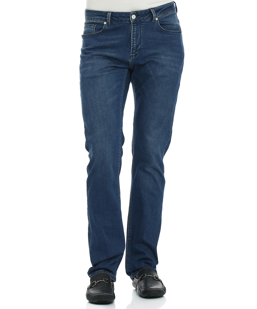 Buckland navy cotton blend jeans Sale - galvanni