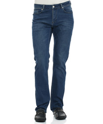 Buckland navy cotton blend jeans
