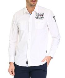Aberto white pure cotton shirt