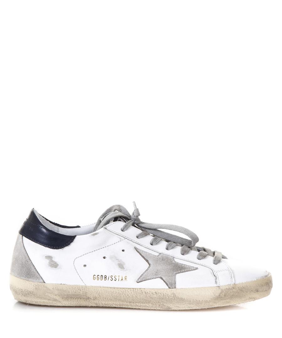 Men's Superstar silver leather sneakers Sale - golden goose deluxe brand