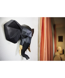 Black elephant wall decoration