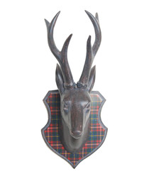 Grey elk head head wall decoration