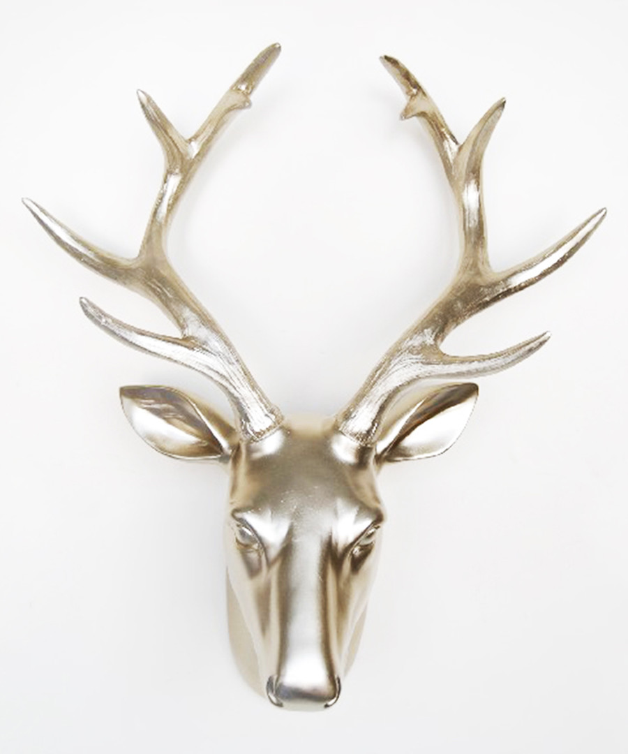 Gold-tone deer head wall decoration Sale - Walplus