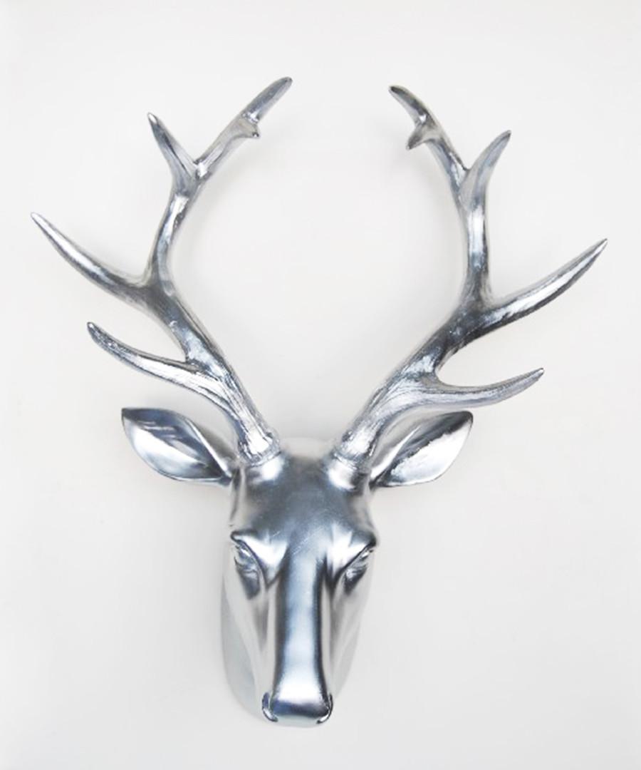 Silver-tone deer head wall decoration Sale - Walplus