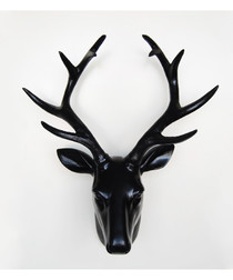 Black deer head wall decoration
