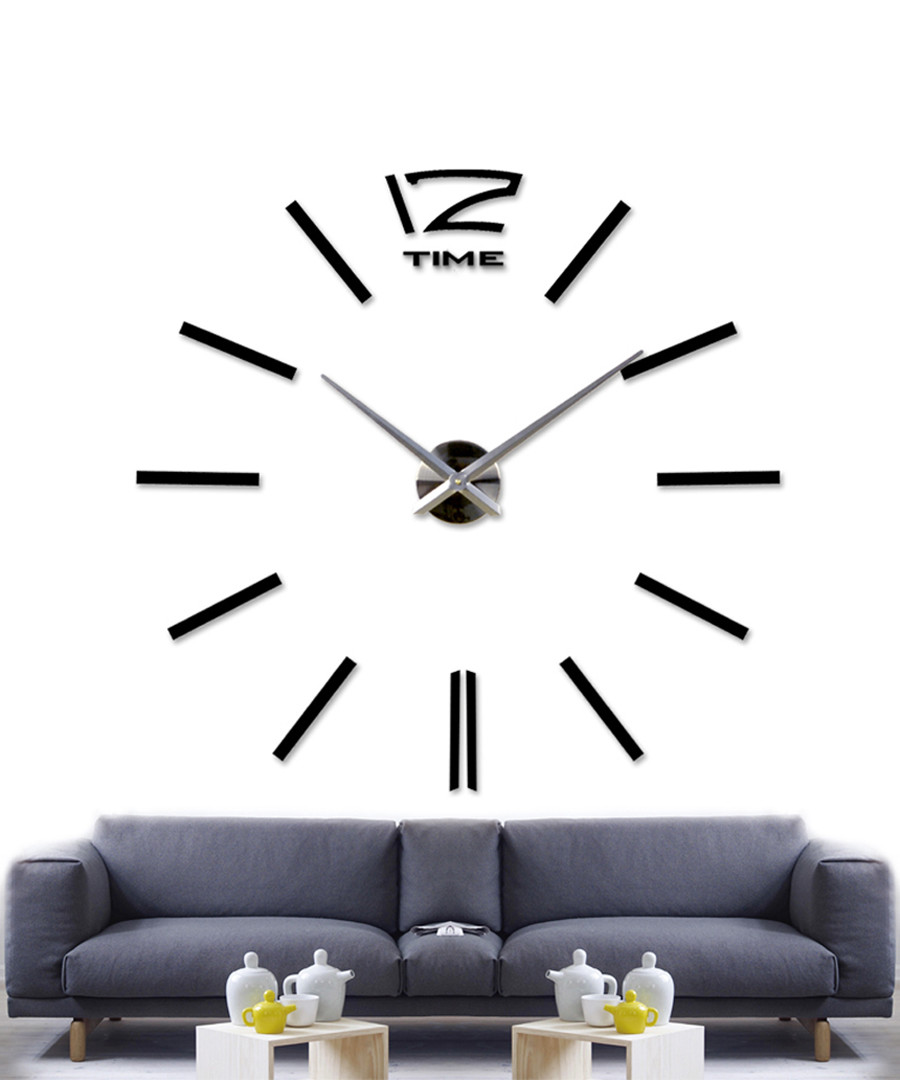 Black clock wall sticker  Sale - Walplus