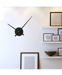 Black flexi wall clock