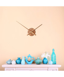 Copper-tone flexi wall clock