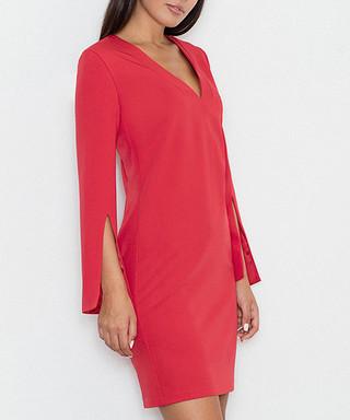 Bright red V-neck dress Sale - FIGL Sale 0a7015c49