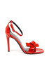 Women's Red leather bow strappy heels Sale - v italia by versace 1969 abbigliamento sportivo srl milano italia Sale