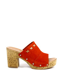 Women's Coral leather stitch detail clogs