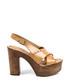 Women's Natural leather slingback platforms Sale - v italia by versace 1969 abbigliamento sportivo srl milano italia Sale