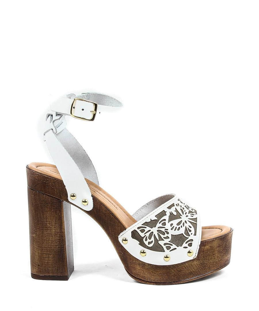 White leather butterfly platform sandals Sale - versace 1969 abbigliamento sportivo srl milano italia