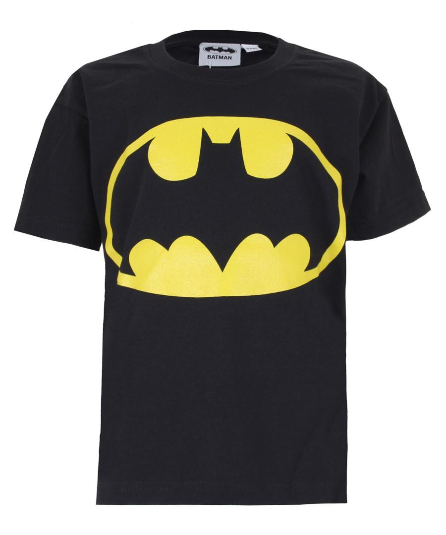 Kids' Batman Logo black cotton T-shirt Sale - dc comics