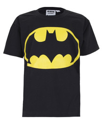 Kids' Batman Logo black cotton T-shirt