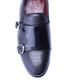 Black leather moc-croc loafers Sale - s baker Sale