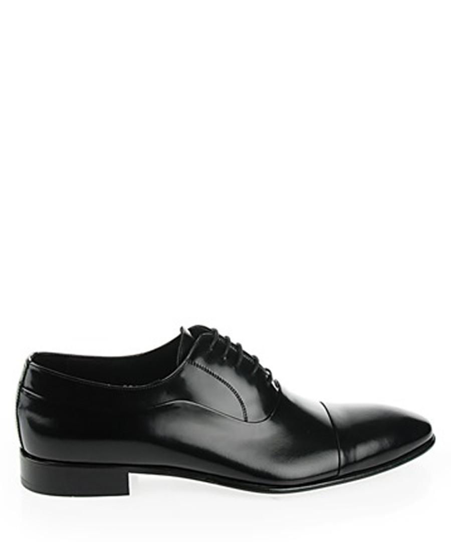 Black leather Oxford shoes Sale - s baker