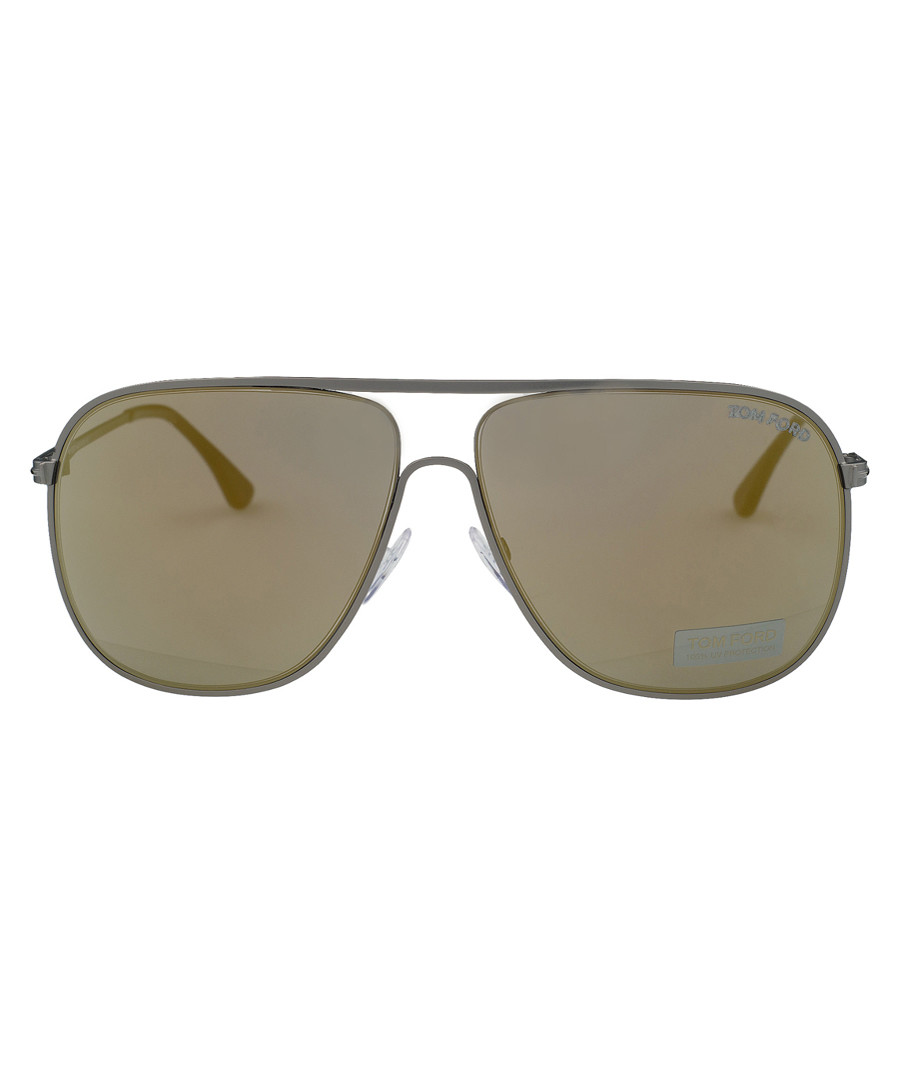 Dominic opal & brown mirror sunglasses Sale - tom ford