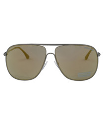 Dominic opal & brown mirror sunglasses
