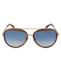 Sam Havana & blue gradient sunglasses