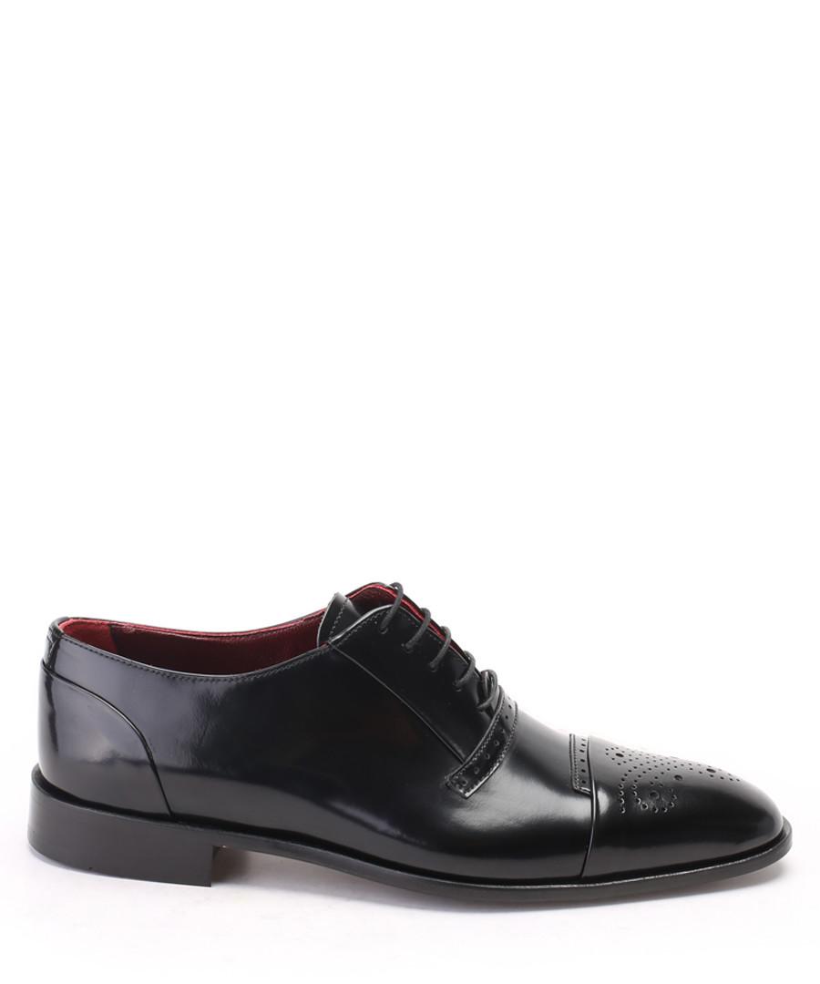 Black leather Derby shoes Sale - s baker