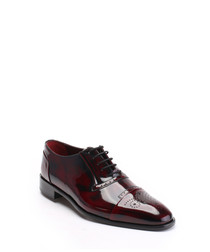 Bordeaux leather Derby shoes