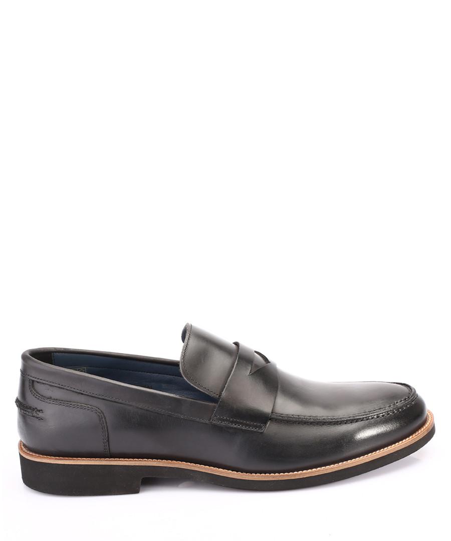 Black leather loafers Sale - s baker