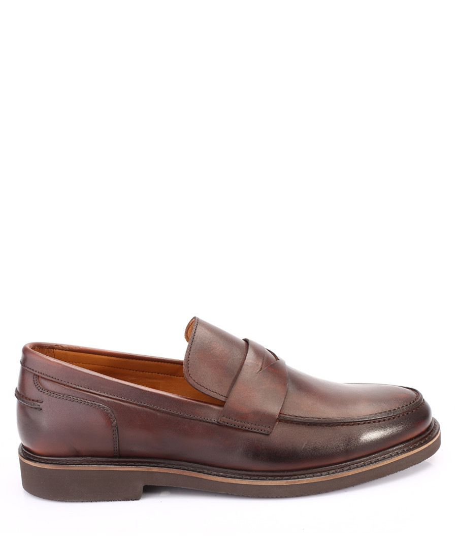 Brown leather loafers Sale - s baker