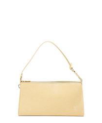 Accessory cream leather shoulder bag