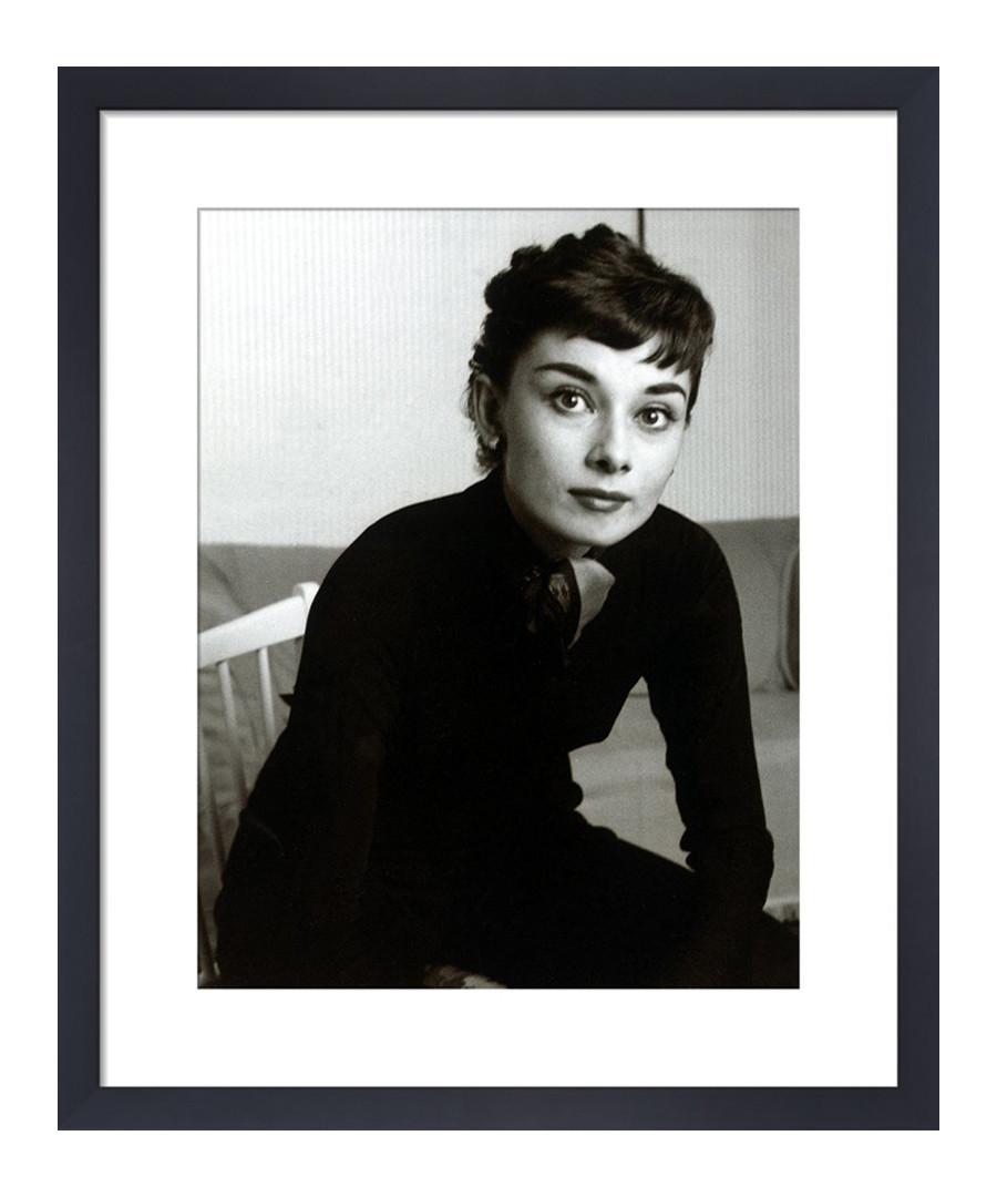 Audrey Hepburn, 1954 framed print 36cm Sale - wall art