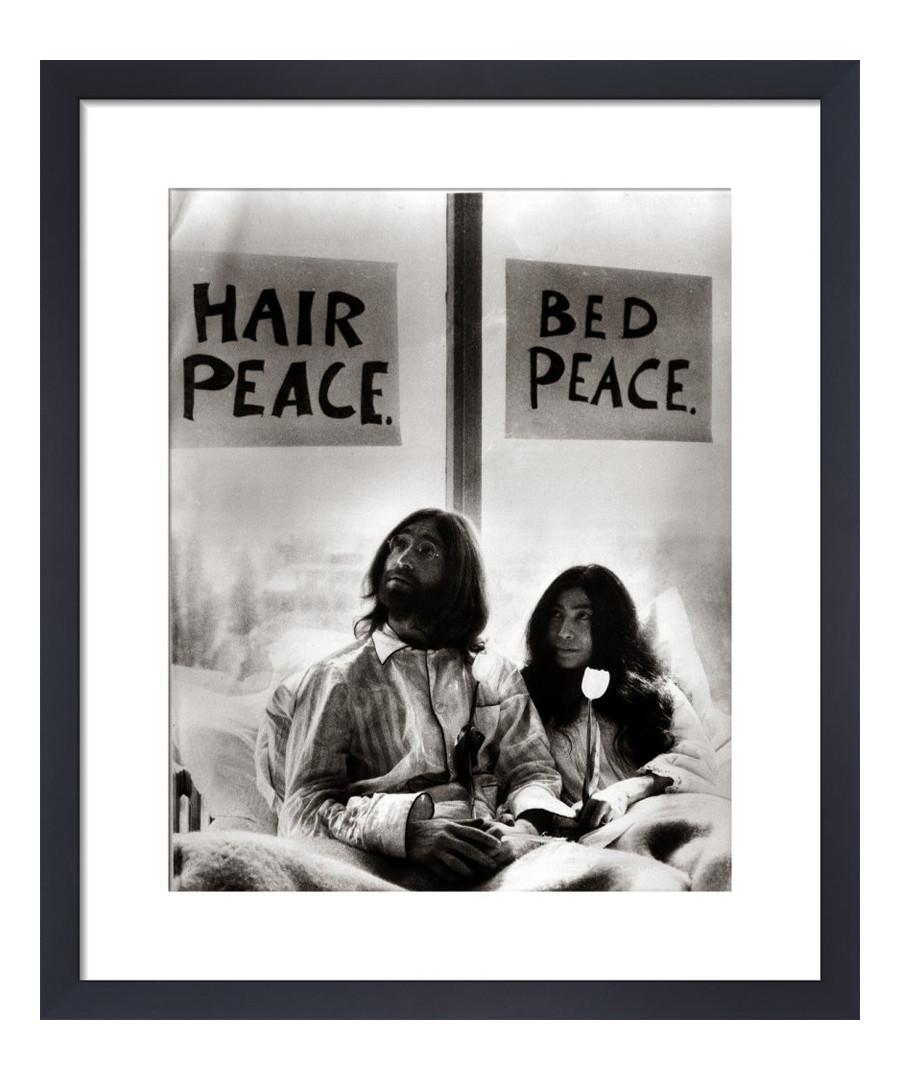 John Lennon & Yoko Ono framed print 36cm Sale - The Art Guys