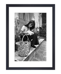 Jane Birkin, Paris framed print
