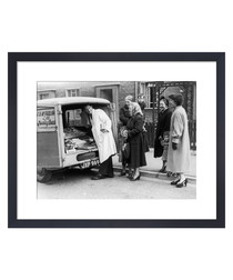 Mobile Butchers, 1955 framed print