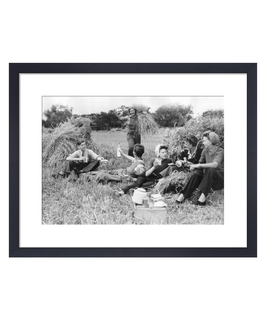 Farm Holiday Picnic, 1945 framed print Sale - wall art