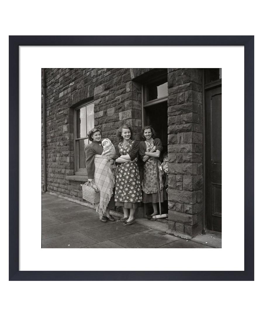 Women on Doorstep, 1950s framed print Sale - wall art