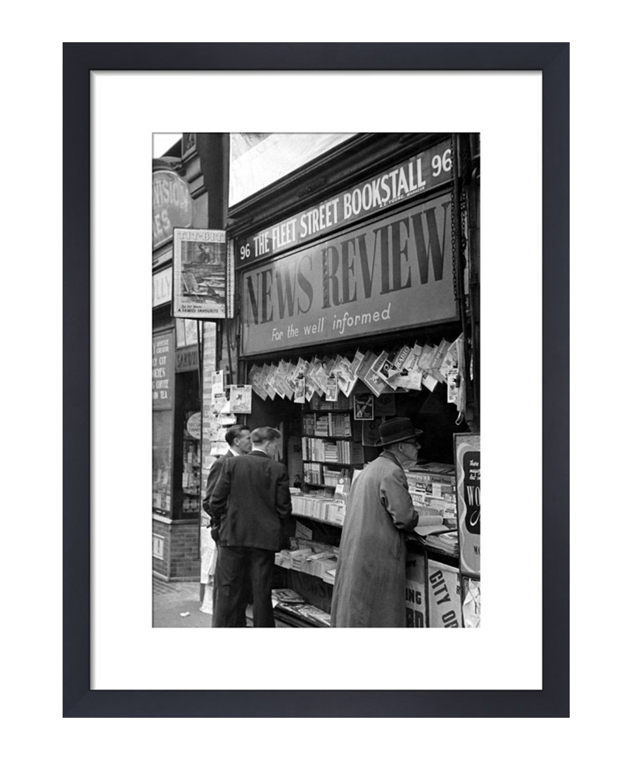 Newspaper Vendor, 1950 framed print Sale - wall art