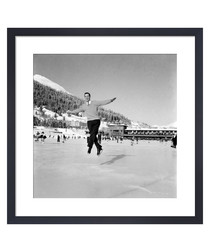 Ice Skating, 1953 framed print
