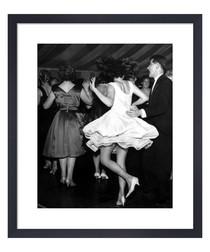 Dancing on Thames Boat framed print