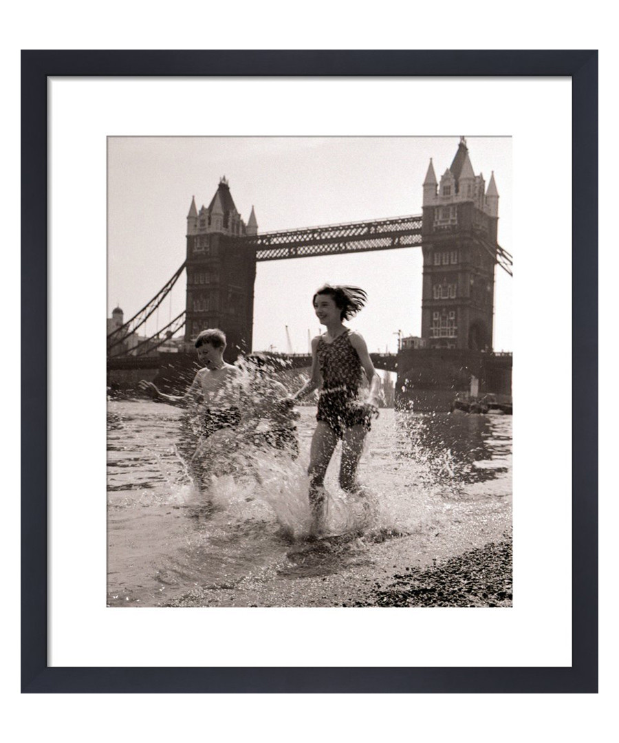 Children & Tower Bridge framed print Sale - wall art