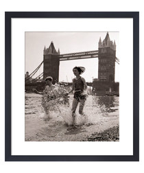 Children & Tower Bridge framed print