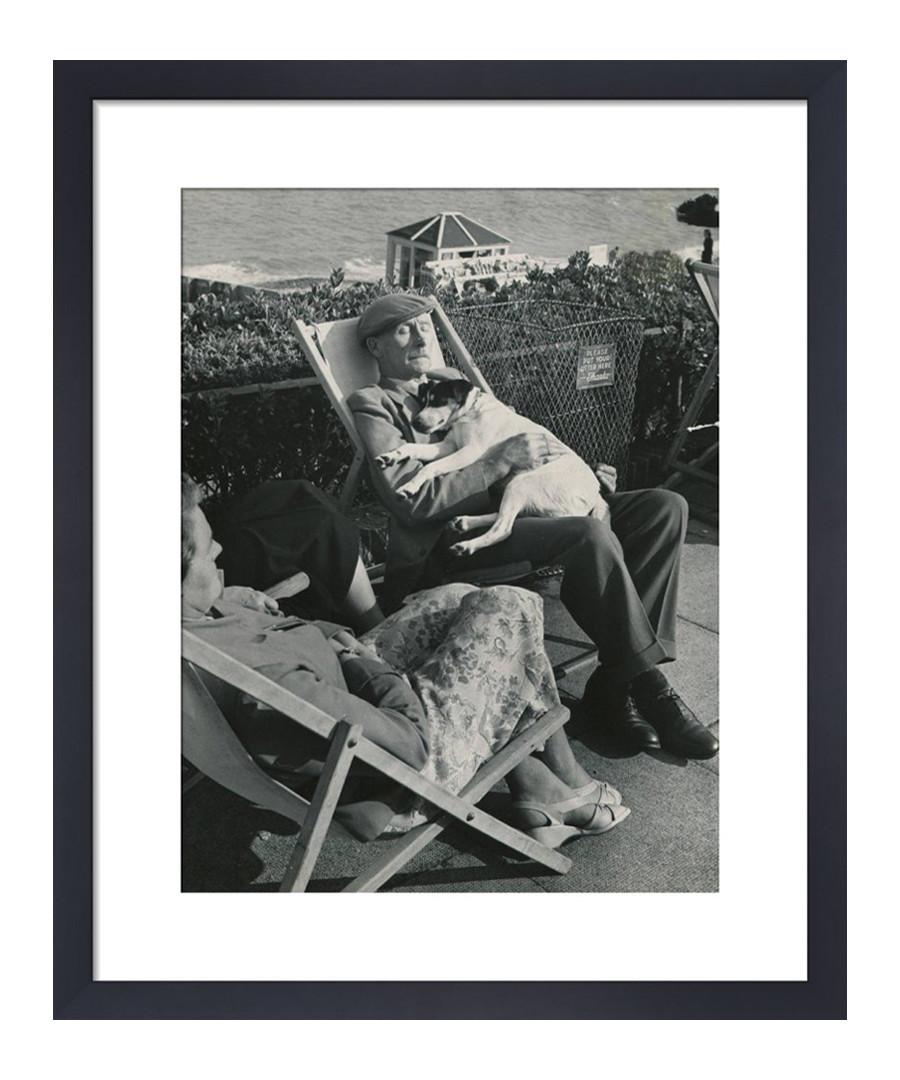 Seaside Nap, 1950s framed print Sale - wall art