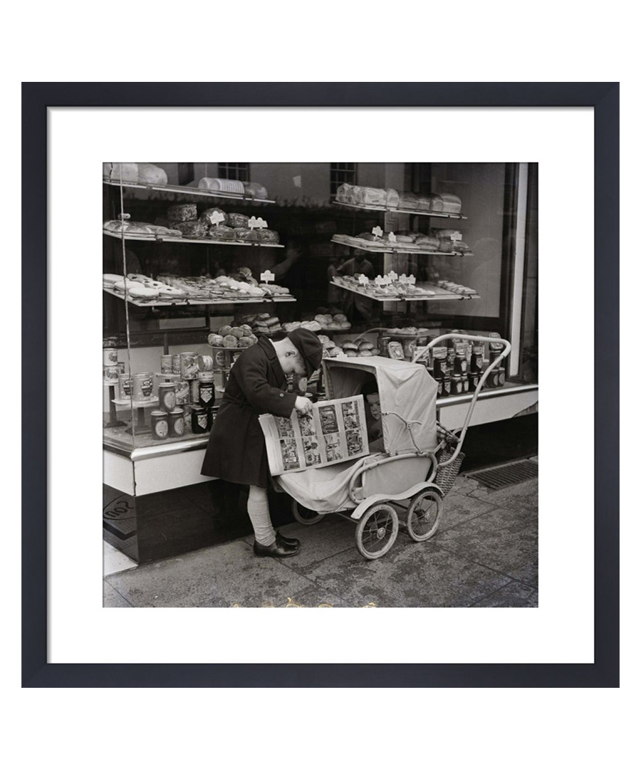 Outside The Bakers, 1954 framed print Sale - wall art
