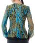 Green & blue cotton abstract blouse Sale - Iren Klairie Sale