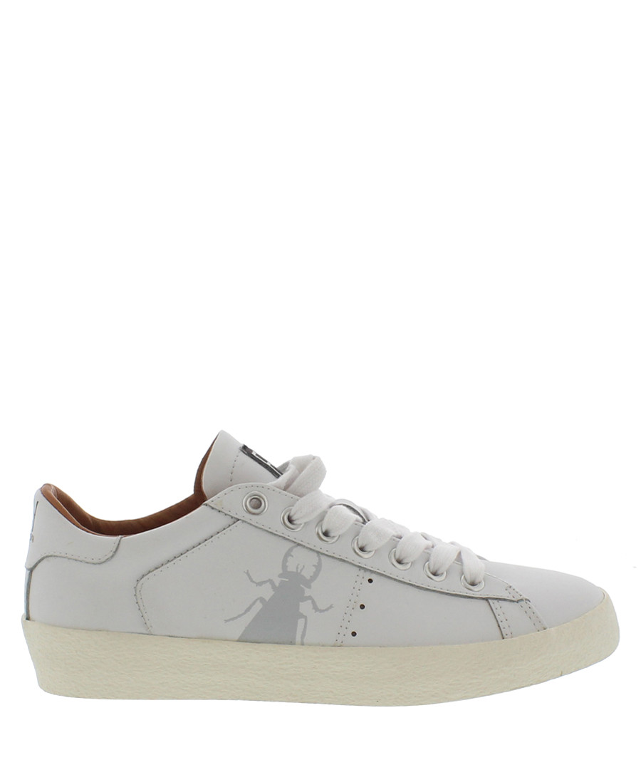 Women's White leather bug sneakers Sale - fly london