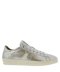 Women's Silver leather bug sneakers
