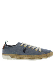 Women's Sky blue bug lace-up sneakers