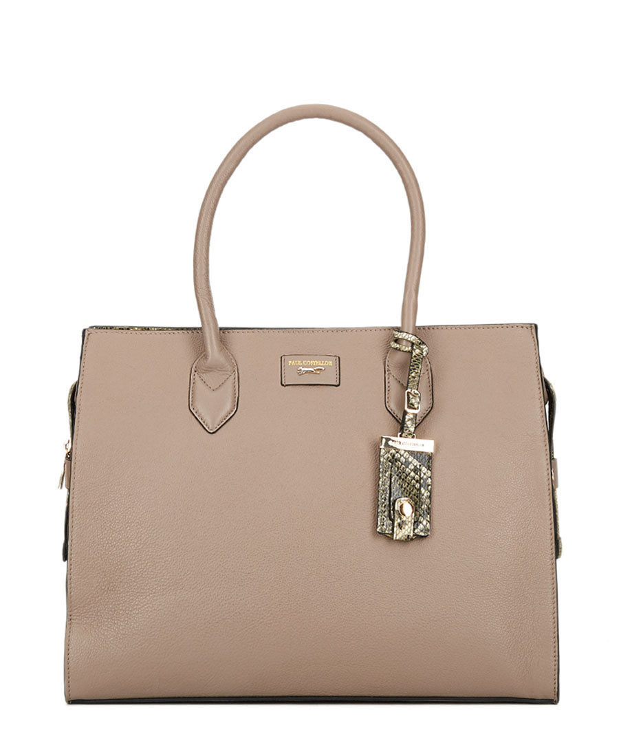 The Betsy brown leather shoulder bag Sale - paul costelloe