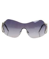 Silver-tone & grey mirror sunglasses
